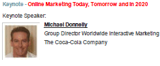 Image - Michael Donnelly - Coca-Cola - Keynote - Online Marketing Today, Tomorrow and in 2020