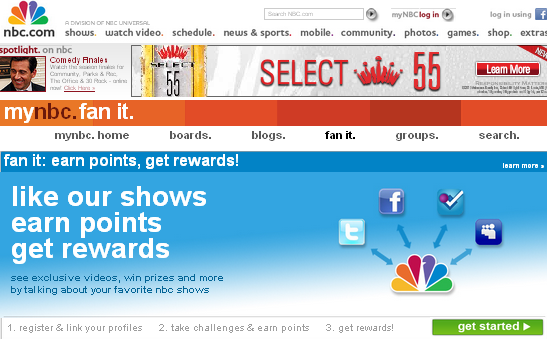 Image - NBC trying to leverage its brand using social media and sweepstakes to get its customers to broadcast about its shows - more noise in the social media space