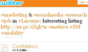 Image - tweet by @ComMetrics #marketing & #socialmedia #research #job in #Lucerne: Interesting listing http://su.pr/1Zqk7n #metrics #SM #usability
