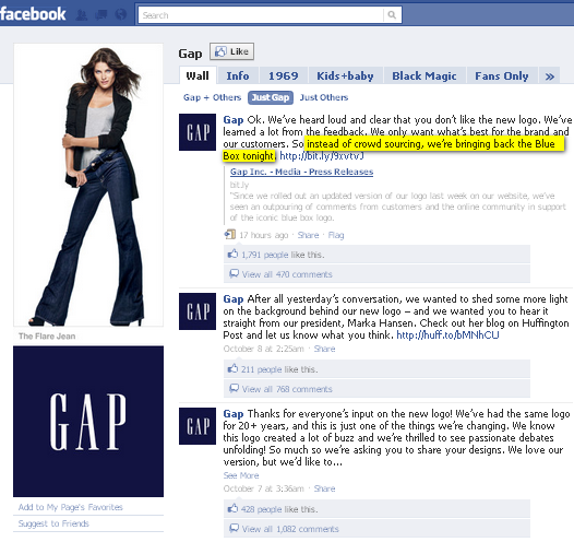 Image - GAP caves to online pressure and reinstates classic blue box logo.