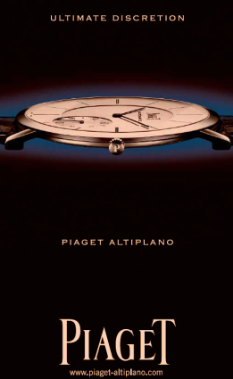 Image - Piaget uses the more subtle approach in advertising while overcharging people for getting their timepiece fixed (semi-annual total maintenance charge)