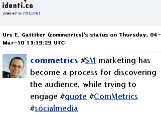 Image - tweet by @Commetrics - #SM marketing has become a process for discovering the audience, while trying to engage #quote #ComMetrics #socialmedia