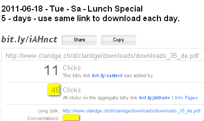 Image - Claridge Hotel - tweet - what resonance does our daily tweet about the lunch special have? What about impact?