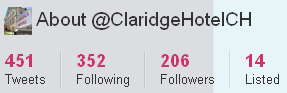 Image - Claridge Hotel - Twitter account