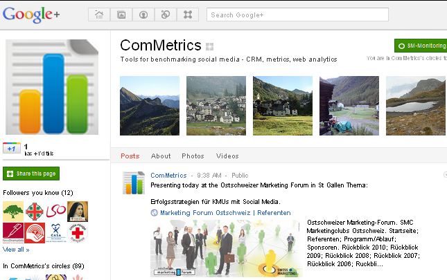 ComMetrics - benchmark your social media efforts - use our tool.