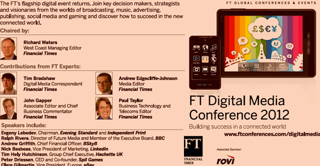 FT Journalism and Conference Management - Promoting yourself by featuring FT journalists as being the key decision-makers, strategists and visionaries in attendance.