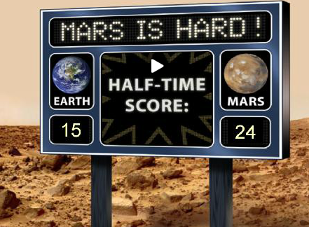 Click on image - NASA - Curiosity Rover mission on Mars using social media to engage, share, spread the message.