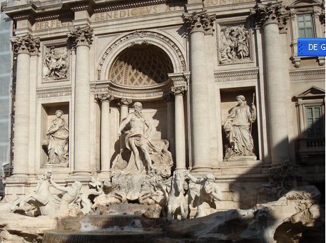 Click on image - Trevi Fountain - More information about Rome.