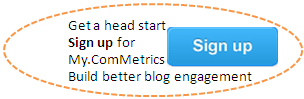 Click on image for free sample - ComMetrics - benchmark your social media efforts - use our tool.