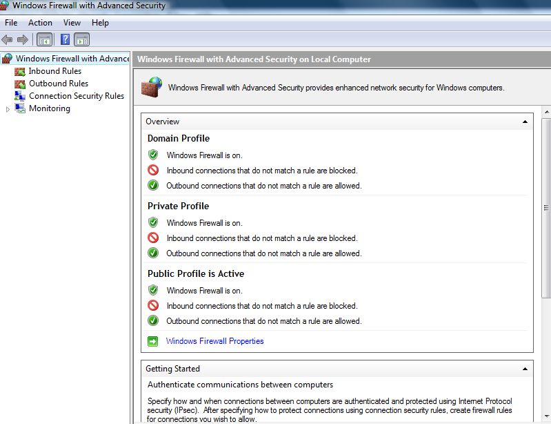 screenshot The default is close to the XP SP2 model. The second choice is one with enhanced security features