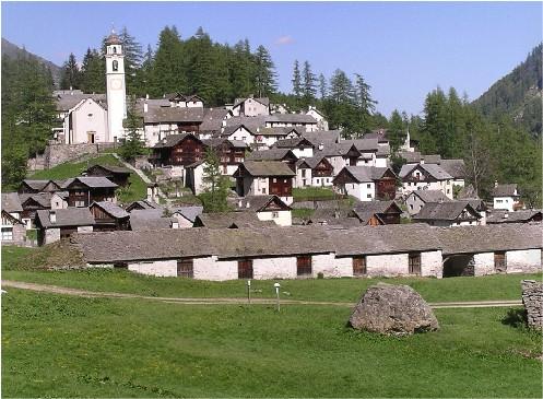 Bosco Gurin - die authentische Valser Gemeinde im Tessin - CyTRAP's südliches Büro.