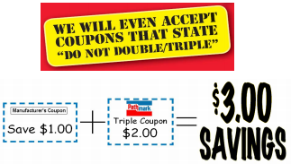 Image - Redeem your Manufacturer Coupons for triple their face value (up to US$1.00) - How it works - the rules.
