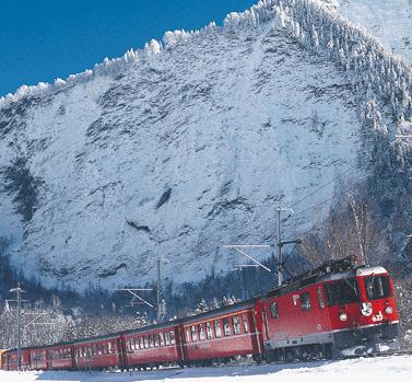 Foto anclicken - die Rhaetische Bahn