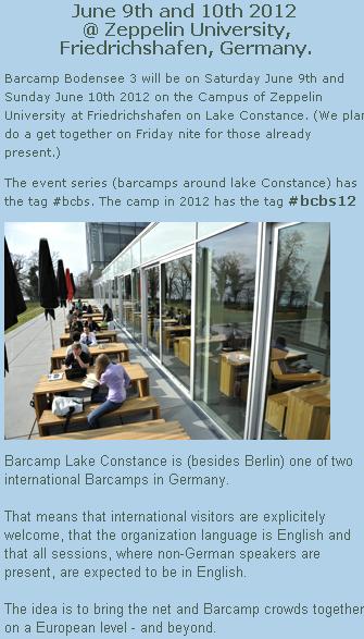 Foto - June 9 & 10 - 2012 - Barcamp Friederichshafen - Bodensee - hashtag #bcbs12