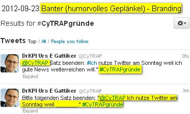 Foto anklicken - DrKPI - WOM - Banter / Geplaenkel auf Twitter wird immer besser für Aufbau des Markenimage.