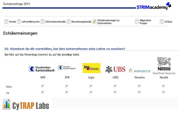 ANKKLICKEN - Umfrage der STRIMacademy beantworten