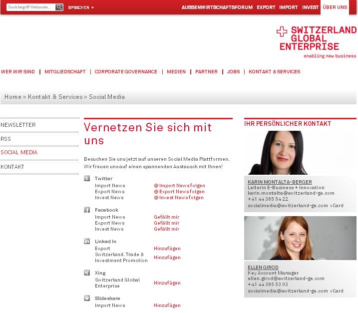 ANKKLICKEN - Die Webseite der General Electric Schweiz - oder ehemalige OSEC?